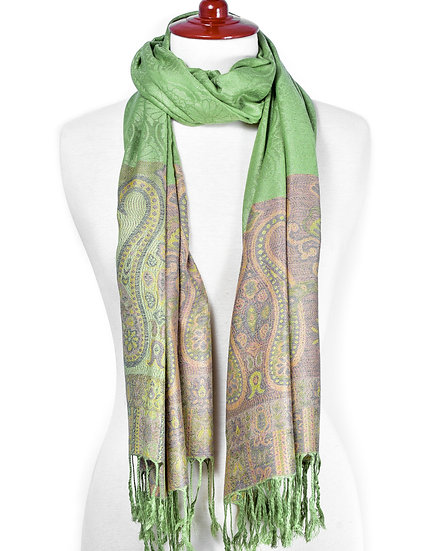 Apple-Green Scarf AD-295