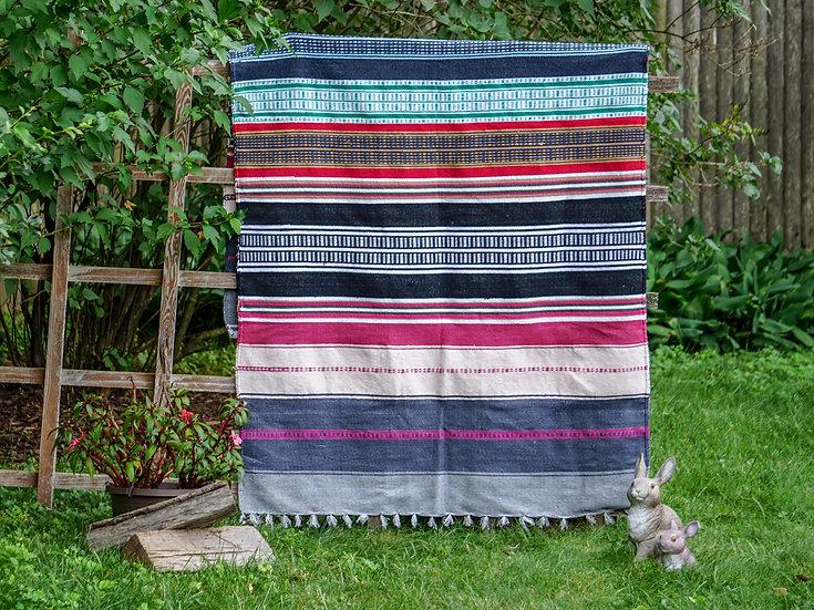 Multi Stripe Boho Throw Blanket