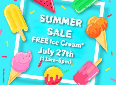 Aasma's Dream Summer Sale July 27th