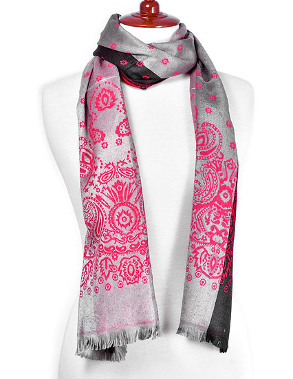 Red-Silver Scarf AD-312