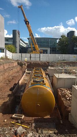 Below ground fuel storage tank