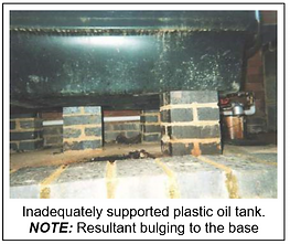 plastic oil tank