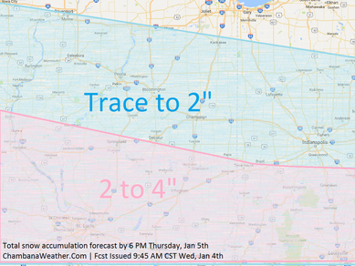 (OLD FORECAST) Light snow likely Wednesday night into Thursday