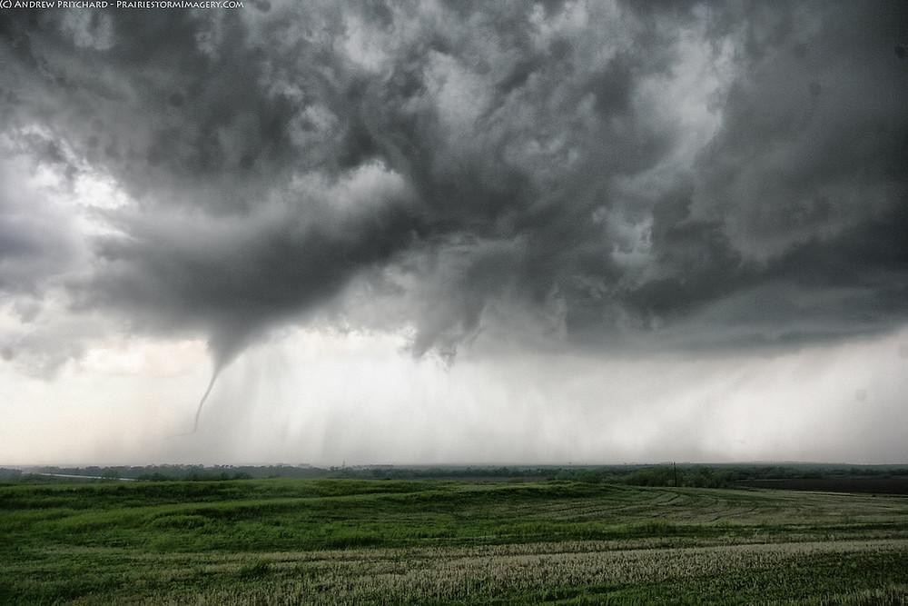 Slender tornado near Timken, KS