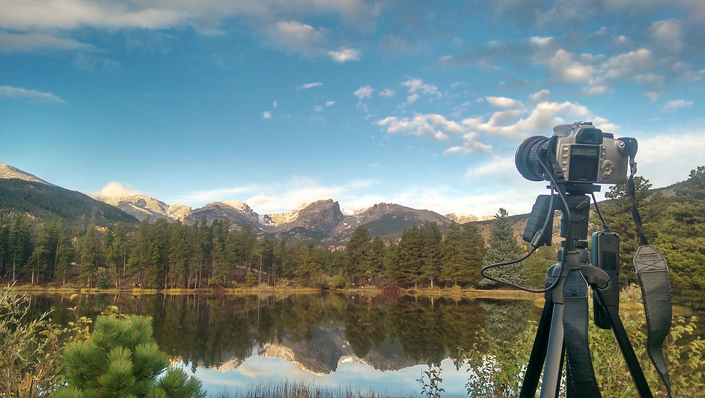 Does it get any better than a peaceful morning shooting the sunrise in Rocky Mountain National Lake?