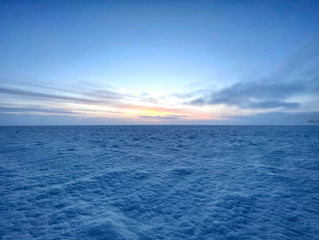 A Surreal Snowy World With No Horizon