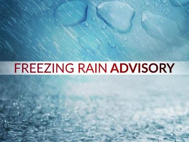(OLD FORECAST) Freezing Rain Advisory begins 6 PM Friday through Noon Sunday