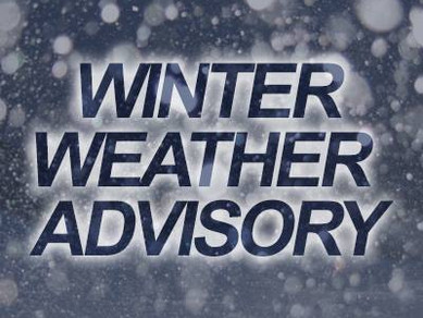 Winter Weather Advisory this weekend