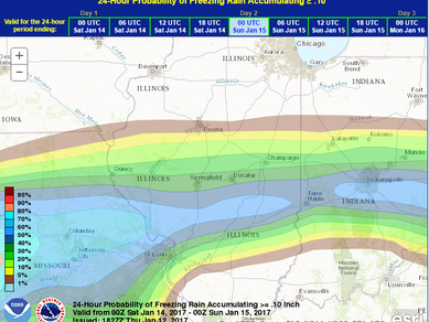 (OLD FORECAST) Ice accumulation probabilities this weekend...