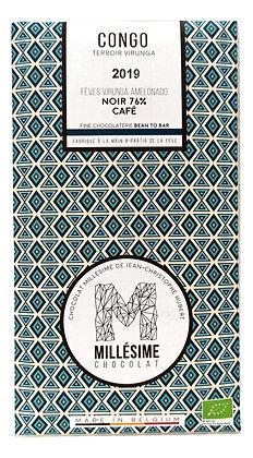 Chocolat Millésime noir 76% - Café Congo