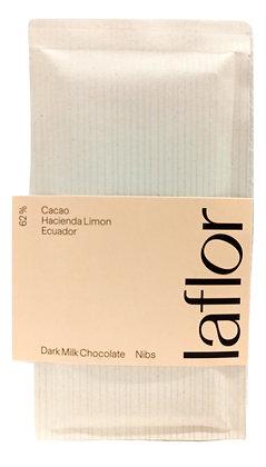 Chocolat 62% Equateur - Nibs de cacao