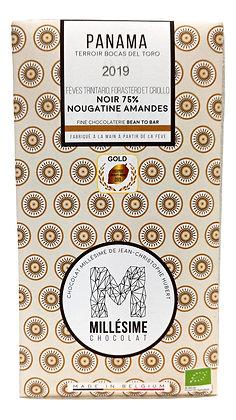 Chocolat Millésime noir 75% - Nougatine aux amandes