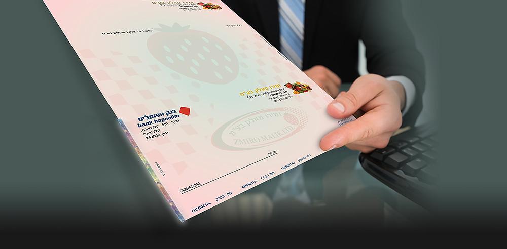 הדפסת צ'קים של בנק הפועלים