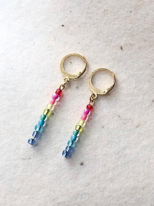 Rainbow beads earrings