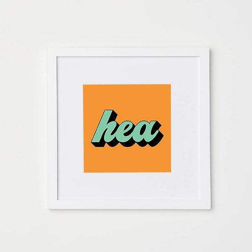 Hea Print (Orange & Green)