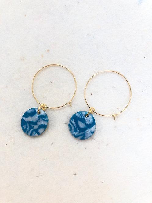 Circle pendant earrings