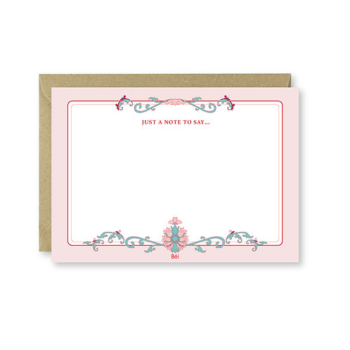 Chinoiserie Note Card