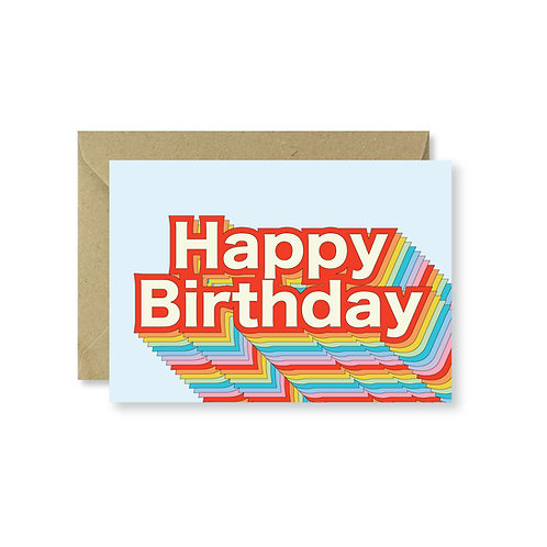 Rainbow colour birthday card