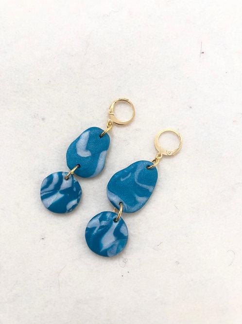 Double pendant earrings
