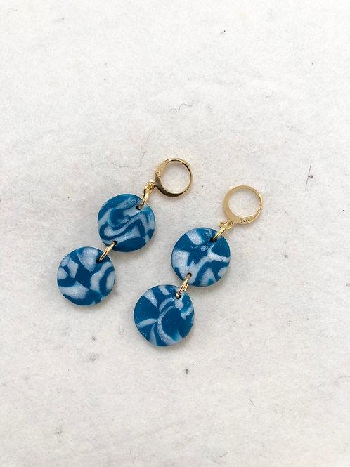Double Circle pendant earrings