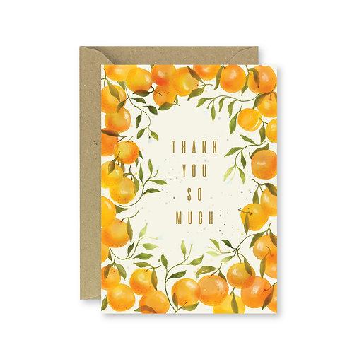 Orange thank you/Congrats Card