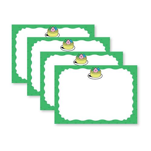 Set of 4 Yum Cha Notecards