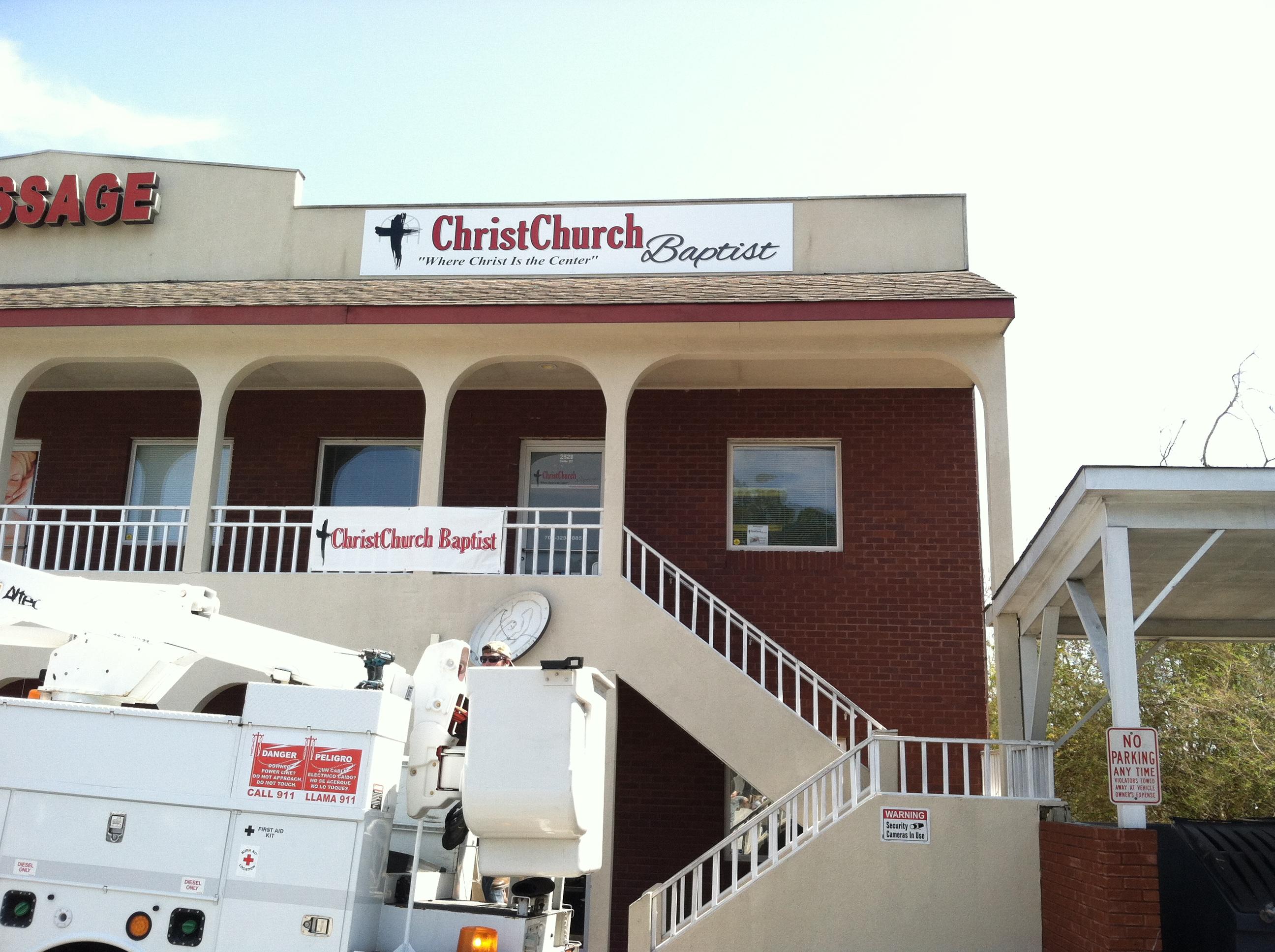 Church Sign_Install2