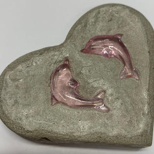 Dolphin Paper Weight - Cement