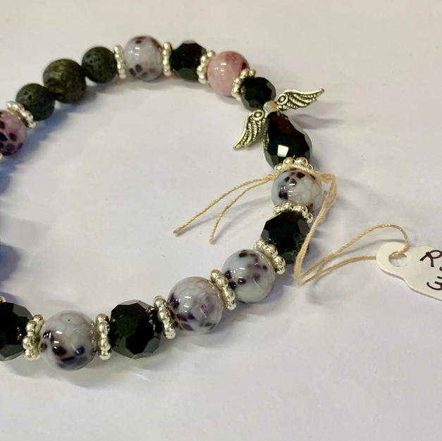 Angel Bracelet - Black / Grey / Pink