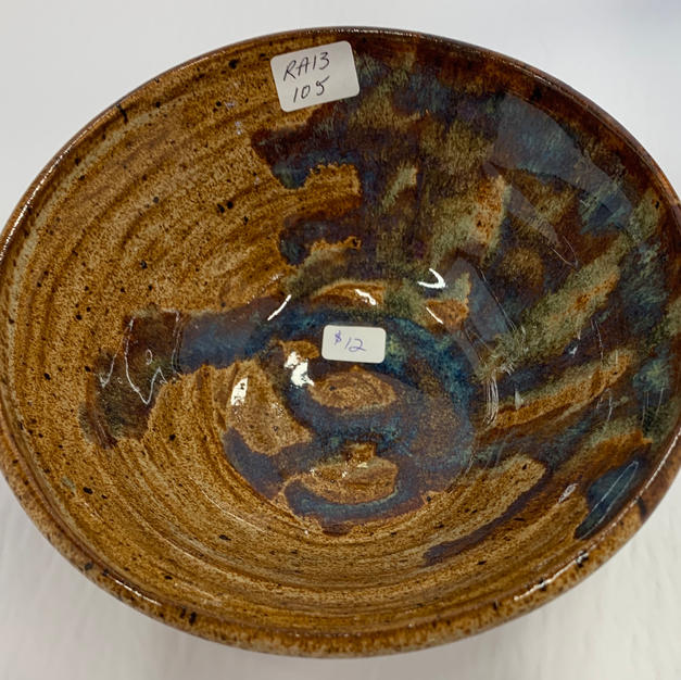 Pottery Bowl #105 - TOP VIEW
