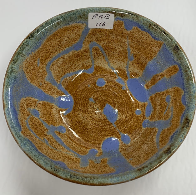 Pottery Bowl #116 - TOP VIEW