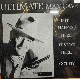 John Wayne - Laser Engraved on Stone