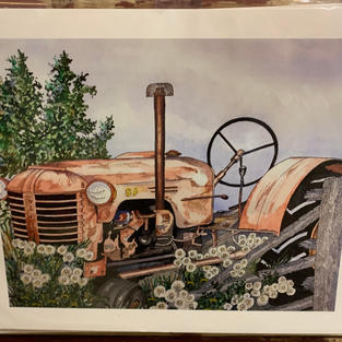 Case Tractor - Print - 11x14