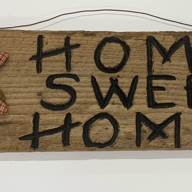 Home Sweet Home with Star - Hanging Sign (7x30)