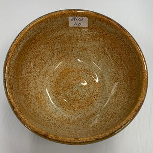 Pottery Bowl #110 - TOP VIEW