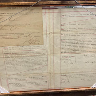 1800's Land Transfer Title (Into Woman's Name)