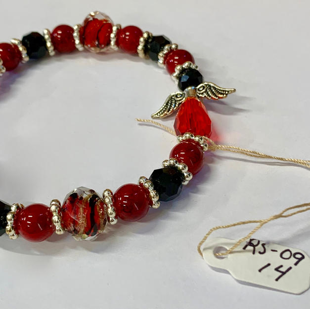 Angel Bracelet - Red / Black / Tiger Bead