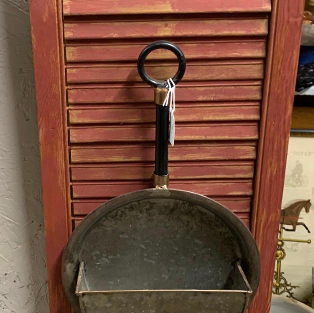 Shutter with Frying Pan & Rolling Pin - 12 x 36