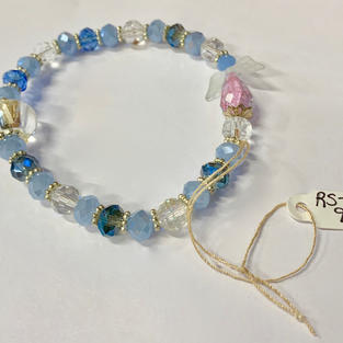 Angel Bracelet - Light Blue / Crystal / Silver