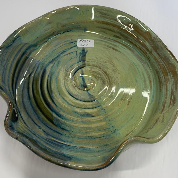 Pottery Bowl 121 - TOP VIEW