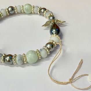 Angel Bracelet - White / Silver / Mottled Grey
