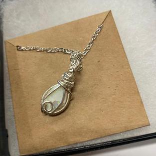 Opal in Silver Setting