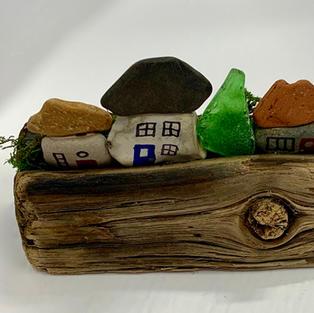 Driftwood & Pebble Landscape