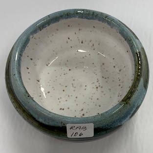 Pottery Bowl #106 - TOP VIEW