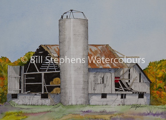 Original Watercolour Painting -Old barn/ Union Road near Hwy 401