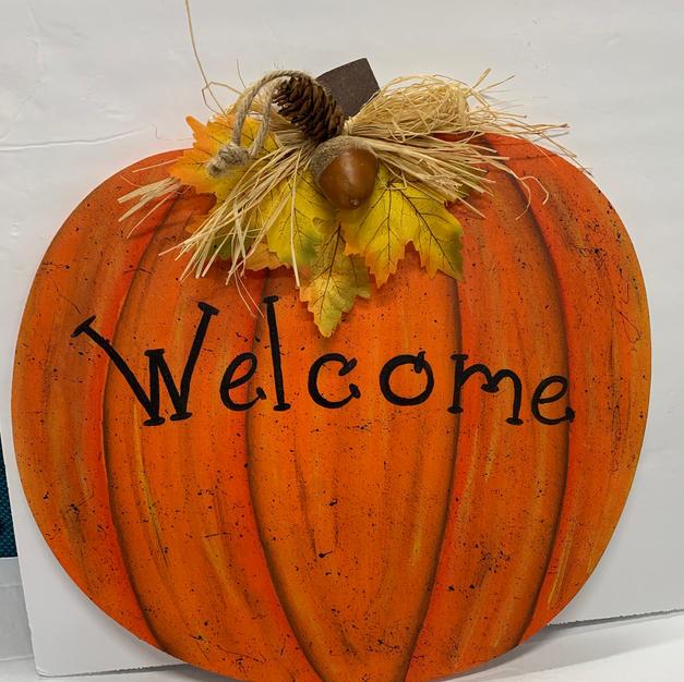 Welcome Pumpkin (12 x 12.5)