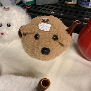 Dog Tea Cozy with Pot - Brown
