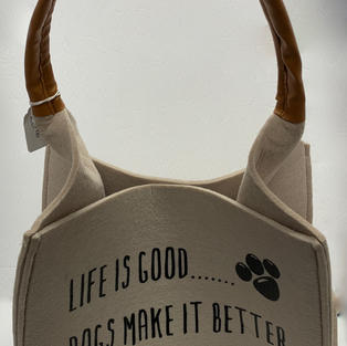 Life is Good Dogs Make It Better - Doggie Tote