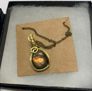 Brown / Green Stone in Gold Setting
