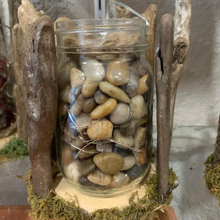Driftwood with Lights & Crystals - Stone